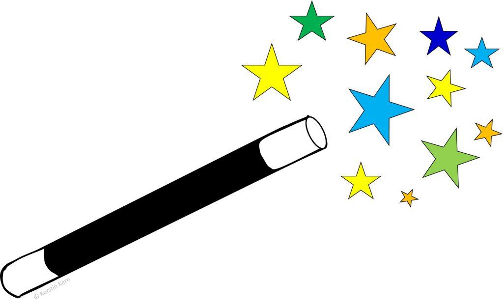 Zauberstab mit Sternen KK 2015