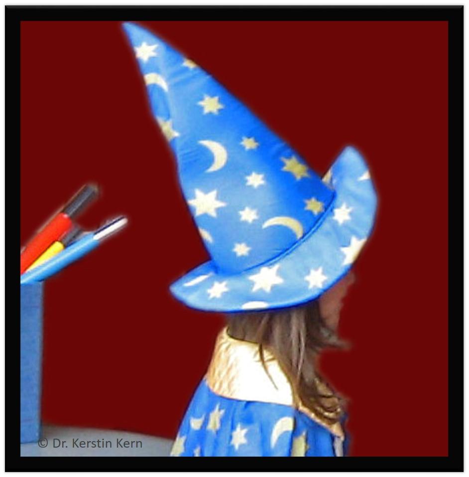 Zaubern Kind mit Hut Rahmen